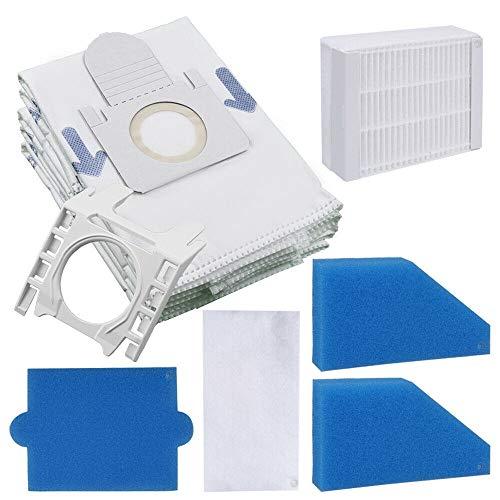 SPARSET - 5 Hochwertige Staubsaugerbeutel + Halterung + Filterset - Für Thomas Aqua Pet & Family, XT