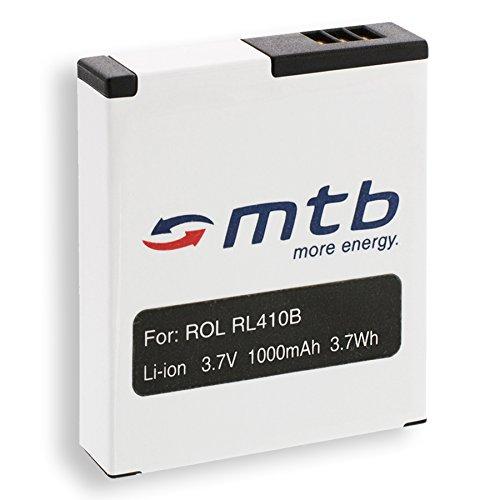 Ersatz-Akku RL410B für Rollei Action Cam 230, 240, 400, 410 / Maginon AC-800W [3.7V / 1000 mAh/Li-Ion]