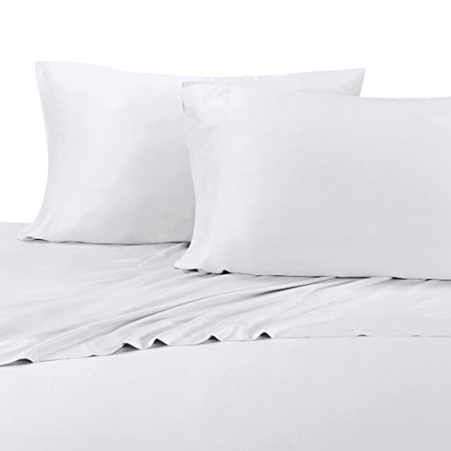 ABRIPEDIC TENCEL SHEETS, Silky Soft and Naturally Pure Fabric, 100% Woven Tencel Lyocell Sheet Set, 4PC Set, Queen Size, White