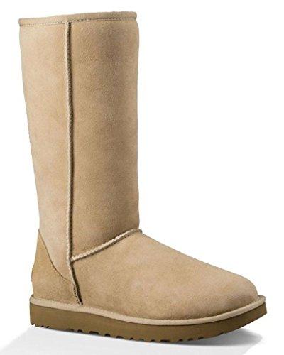 UGG Australia Classic Tall, Damen Shearling Boots, Beige - sand - Größe: 41 EU
