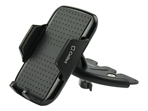 Cellet CD Slot Car Phone Mount Holder Compatible for Apple iPhone 12 11/ Pro 11 Pro Max Xs Max Xr X 8 7 6 5 SE iPod Samsung Note 10 9 8 Galaxy S20 S10 S9 S8 Moto G7 E6 Z4 Z3 Z2 Z Play Droid LG G8