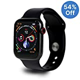 Full Touch Smart Watch with SPO2, Heart Rate, BP, Fitness and Sports Tracking, Black