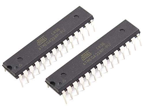 CANADUINO 2 x Atmega328P-PU Replacement Chip for Arduino UNO R3 - Bootloader and Blink installed