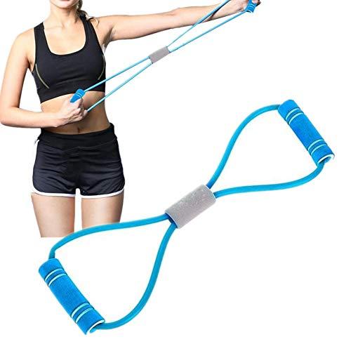 Gertok Cintas Elasticas Musculacion Goma Elastica Fitness Equipo de Ejercicio para el hogar Gimnasio Bandas Banda de Resistencia Blue,42cm