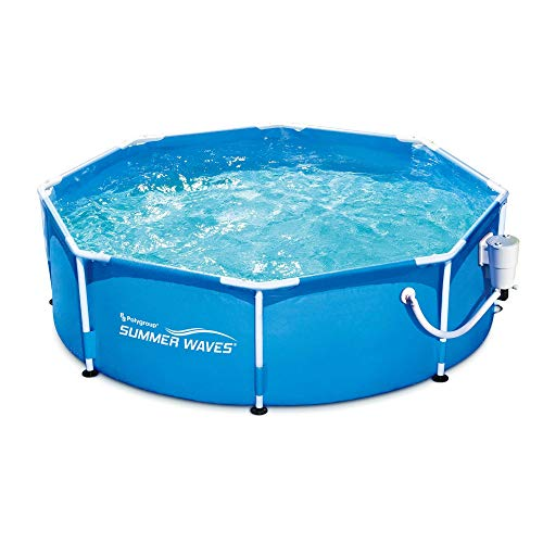 Summer Waves Active 8ft x 30in Round Frame Above Ground Outdoor Swimming Pool