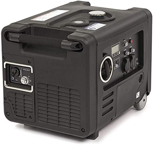 Inverter Generator E-Start mit 2x Fernbedienung sauberem Strom 4000W HY4000i Benzin Generator, Inverter Stromerzeuger mit 5.4PS, 9L Tank, Notstromaggregat, Stromaggregat (Inverter 4000w)
