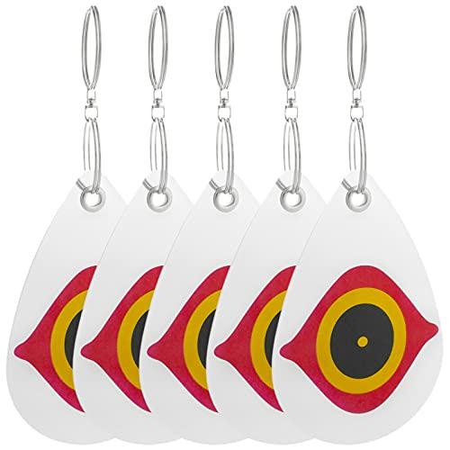 PrimeMatik - Dischi Riflettenti repellenti di Uccelli Repeller dell'uccello spaventapasseri 5-Pack