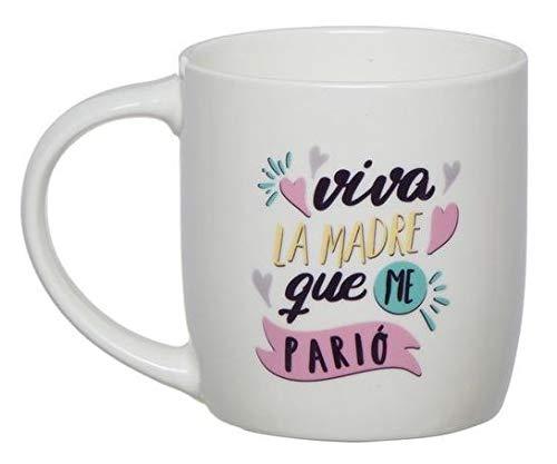 TIENDA EURASIA Pack de Regalo Dia de la Madre - Taza de Desayuno - Ideal Para Sorprender a tus Seres Queridos (Madre que me parió)