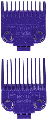 Andis 01420 Master Clipper Magnetic Comb Set — Dual Pack Sizes 0.5 & 1.5