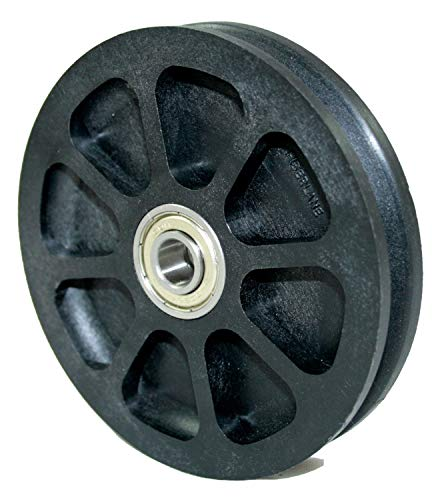Seilrolle, Drahtseilrolle, Durchmesser Ø 100 mm, für Seile bis zu Ø 3 mm mit doppeltem Kugellager - Made in Germany