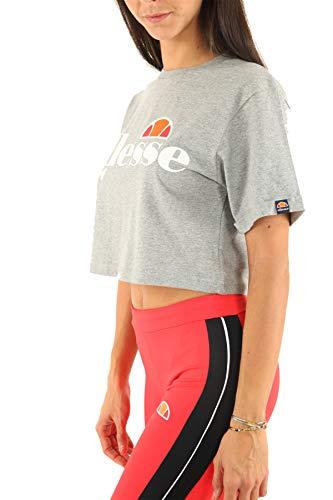 Ellesse Alberta Cropped Camiseta, Mujer, Grey Marl, 40