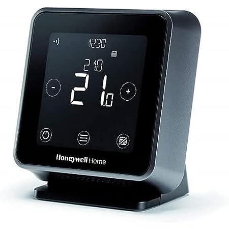 Honeywell Home T6R Termostato Wi-Fi smart, installazione wireless, utilizzabile con app, compatibile con Apple HomeKit, Google Home, Amazon Alexa e IFTTT, Nero