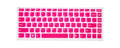 PcProfessional Hot Pink Ultra Thin Silicone Gel Keyboard Cover for Lenovo Yoga 900 13.3'' Laptop with Application Kit (Please Compare Keyboard Layout and Model)