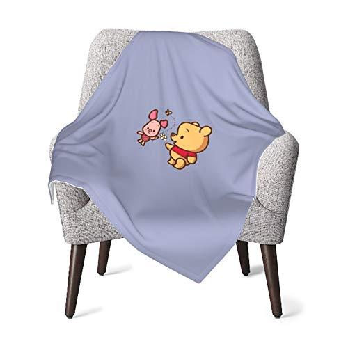 DNBCJJ - Manta de bebé cómoda, Winnie the Pooh y Piglet suave y cálida para bebé recién nacido cochecito de viaje al aire libre