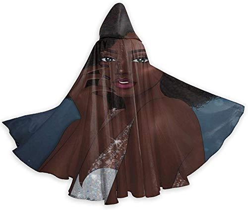 Romance-and-Beauty Halloween Wizard Witch Tnica con Capucha Capa Sudaderas con Capucha de Navidad Capa Cosplay para