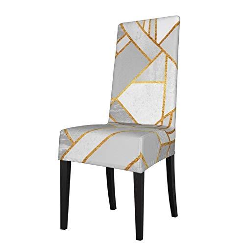2 fundas elásticas para silla para comedor, color dorado City lavable, para decoración de Navidad, ceremonias, banquetes, bodas, fiestas, comedores.