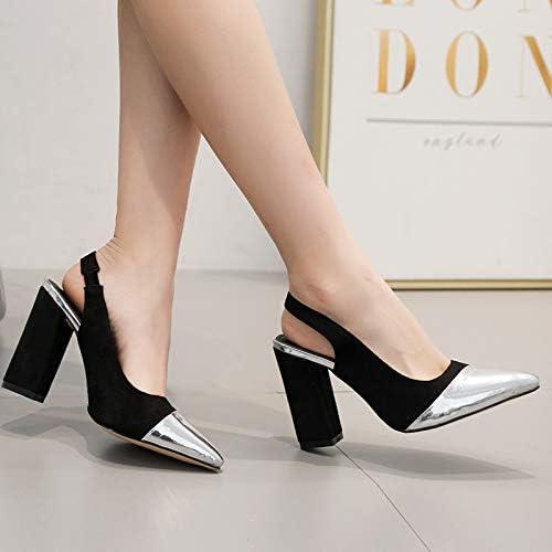 HOESCZS Printemps Nouvelle Mode Big Fashion Creux Sandales à Talons Hauts Pointues Retour Vide avec des Chaussures pour Femmes
