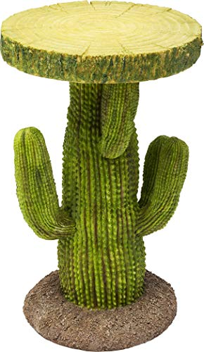 Kare Design Beistelltisch Cactus Ø32cm, Grüner Tisch in Runder Form als Kaktus, Beistelltisch für das Wohnzimmer (H/B/T) 52x32x32cm