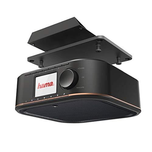 Hama Digitalradio für FM/DAB/DAB+ Empfang, DR350, unterbaufähig (Unterbau-Küchenradio, Farbdisplay, Weckfunktion, Netzbetrieb) Küche Unterbauradio, DAB-Radio, schwarz/kupfer