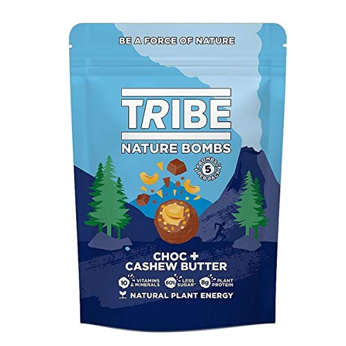 Tribe Vegan Choc CashewButter Nature Bomb, 100g - 10 Count