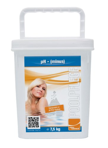 Steinbach Poolchemie pH Minus Granulat, Aquacorrect, 7,5 kg
