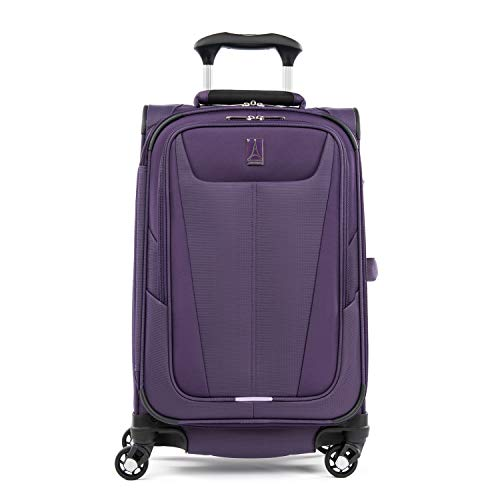 Travelpro Maxlite 5-Softside Expandable Spinner Wheel Luggage, Imperial Purple, Carry-On 21-Inch