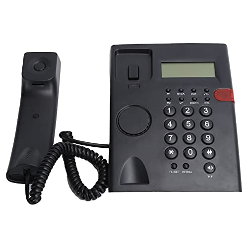 K010A Teléfono estándar con cable, teléfono fijo de botón grande con altavoz, grabadora de voz para hotel de oficina familiar, teléfonos fijos con cable para el hogar, apto para ancianos y niños