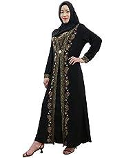 Casual Abaya For Women - flower pin