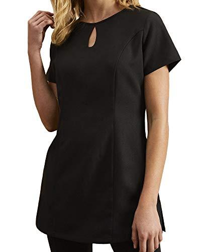 Workwear World Joy Damen Tunika mit Tropfenausschnitt Gr. 44, Schwarz