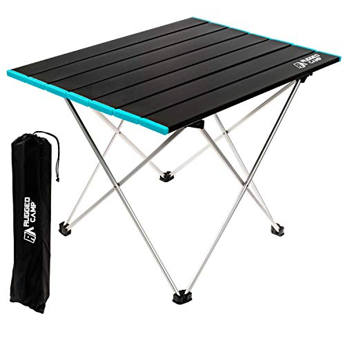 Various Sizes Camping Table Easy Carry Picnic Folding Table Roll-up Heat Resisting Top with Storage Bag Heavy Duty Outdoor RV BBQ Cooking Black