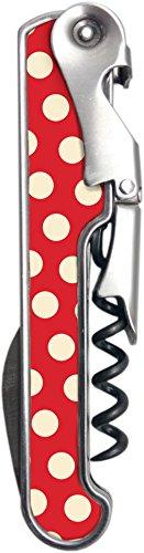 Vin Bouquet FIV 184 Tire-Bouchon à 2 Temps, Abs, Rouge et Beige, 7x15x5 cm