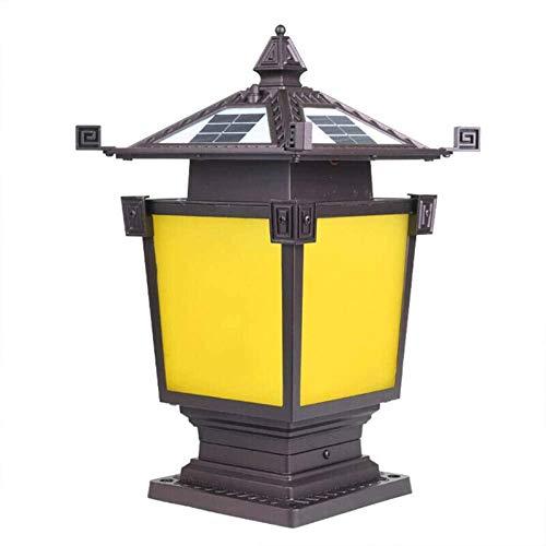 Faro de Columna de decoración de jardín de Patio, lámpara de Poste, Faro de Columna de jardín Vintage, iluminación de jardín de Villa Impermeable de Aluminio al Aire Libre