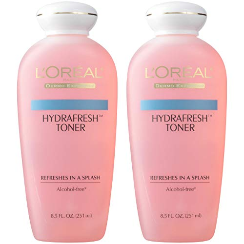 L'Oreal Paris Skincare HydraFresh Alcohol Free Toner with Pro-Vitamin B5 for Face (Pack of 2)