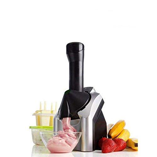 LanLan Macchina per gelato,Macchina elettrica del gelato alla frutta della famiglia di 220V Macchina per la casa del creatore del gelato 17 * 16 * 35CM d'argento