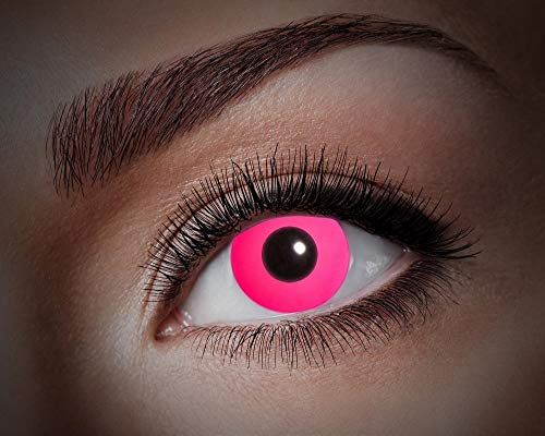 Eyecatcher UV Kontaktlinsen - Flash Pink U74 | Farbige 1-Monatslinsen | Karneval Halloween Cosplay