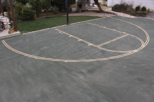 Complete Easy Court Basketball Marking Stencil Kit   Includes White Paint   Made in USA