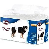 Trixie Pañales para Perros Absorbentes - Empapadores Perros Desechables para Incontinencias Cómodos 12 Unidades Talla L-XL, 60-80 cm