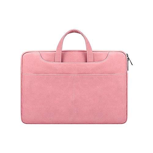 Hjkl Fashion Matte Leather Laptop Bag For Macbook Pro 13 15 16 M1 2020 New A2337 A2179 A2338 A2141 (Color : Pink, Size : 15.6 inch)