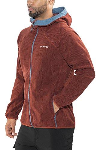 Columbia Tough Hiker Hooded Fleece Jacket, Rusty/Blue Heron, xxl Homme