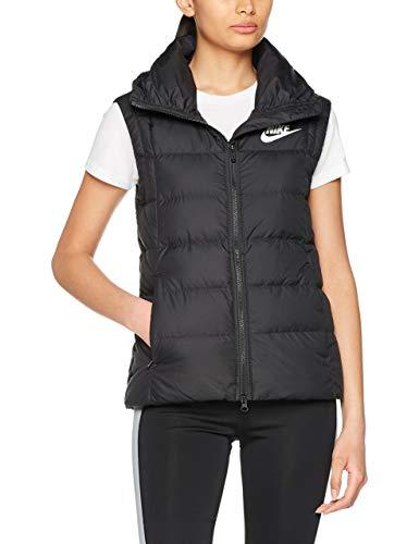 Nike Damen W NSW DWN Fill Vest Daunenweste Mit Stehkragen, Schwarz/Schwarz/Weiß, S