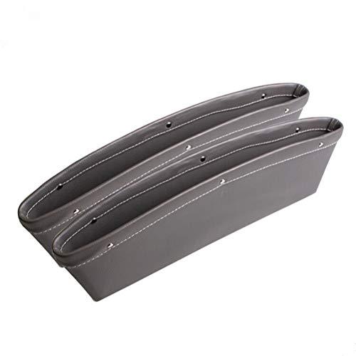 VOSAREA Bolsa lateral para asiento de coche, de piel sintética, para consola de coche, color gris