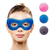 Gel Eye Mask with Eye Holes- Hot Cold Compress Pack Eye Therapy |