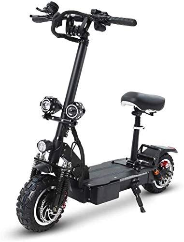 Patinete electrico Deslizándose Movimiento Scooter eléctrico 3200W de doble motor 11 pulgadas Off-Road de vacío neumáticos de doble freno de disco plegables scooter con 60V 26 Ah Batería de litio SJZL