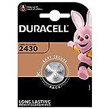 Pile bouton lithium Duracell spéciale 2430 3V, pack de 1 (DL2430/CR2430), conçue pour une utilisation dans les porte-clés, balances et dispositifs portables et médicaux