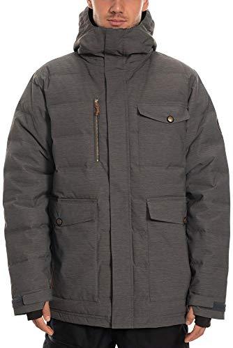 686 Men's Insulatd Down Jacket Jacket - Waterproof Ski/Snowboard Winter Coat, Grey Heather, Medium
