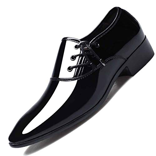 Classic Business Men's Dress Shoes Pointed Pattern Fashion Elegant Formal Wedding Shoes Slip on Office Oxford Shoes Black Brown