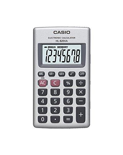 CASIO HL-820VA calcolatrice tascabile - Display a 8 cifre e struttura in metallo