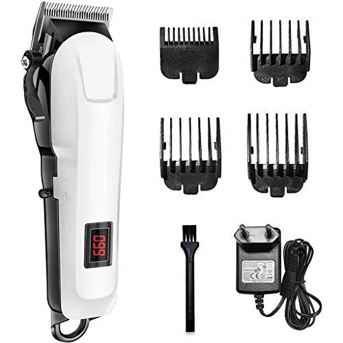 TOYS Haarschneidemaschine Für Männer, LED-Display Haarschneidemaschine Multifunktionale wasserdichte USB Wiederaufladbare Bartschneider Cordless Home Haircut Kit