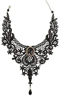 Victoriano Gótico Collar de gargantilla de encaje negro