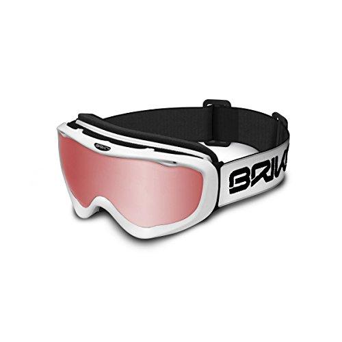 Briko Amiata (Cat 1) Skibril voor volwassenen, wit, uniseks